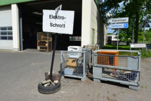 Mikrowelle entsorgen Recycling hof