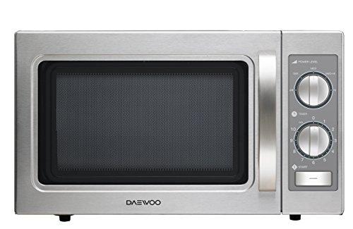 DAEWOO KOM-9P35 Profi Gastro 1100 Watt, Mikrowellen Reflektor, Auftaufunktion, Keramikboden, Edelstahl, 29 liters